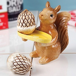 Squirrel and Acorns Salt & Pepper Shakers