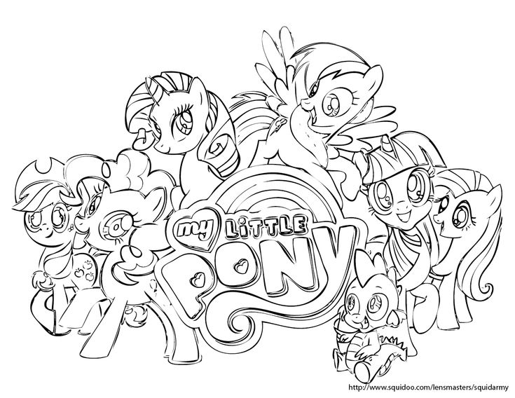 My Little Pony Friendship Is Magic Coloring Page Coloring Book