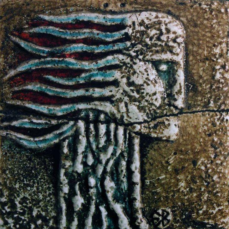 Obrazy Lata 70-80 | Bolesław Książek | obraz ceramiczny | ceramic