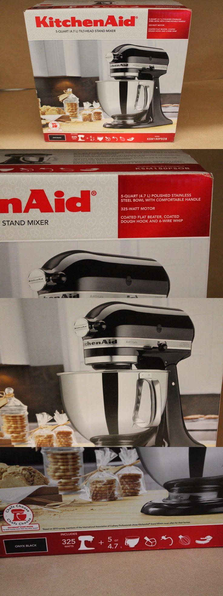 Mixers Countertop 133701: Kitchenaid 5-Quart Artisan Stand Mixer Black Ksm150psob -> BUY IT NOW ONLY: $175 on eBay!