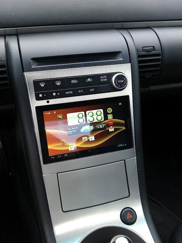 using an android tablet as a dash for your car diy. Black Bedroom Furniture Sets. Home Design Ideas