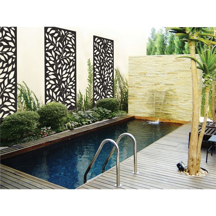 Matrix 1800 x 900 x 7mm Charcoal Jungle Décor Screen Panel