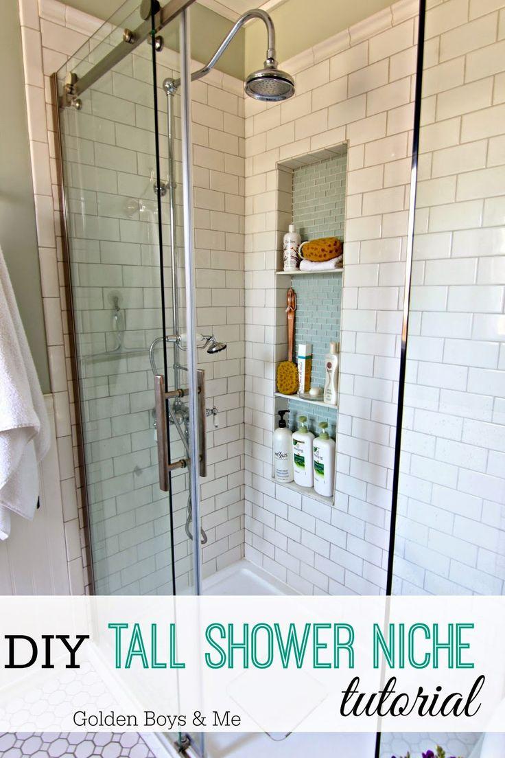 shower niche tutorial