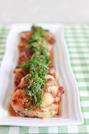 鶏もも肉を甘辛だれと大葉で。|レシピブログ