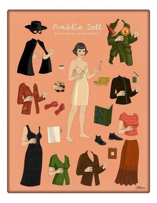 A nice summary of Amélie's key costumes.