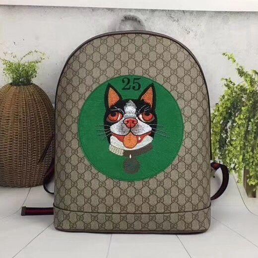 41314441cb6e Gucci GG Supreme Bosco Backpack 505372 Green 2018 | Gucci 2018 ...