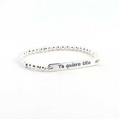 Pulsera para tu #tita ella que te quiere tanto que tu admiras regalale esta #pulsera a tu #tía y comprobaras que le va a encantar y llevara con orgullo. Es elastica y permite poner y quitar fácilmente. http://ift.tt/2ifcMZ1