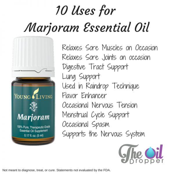 10 Uses for Marjoram Essential Oil| www.theoildropper.com/marjoram