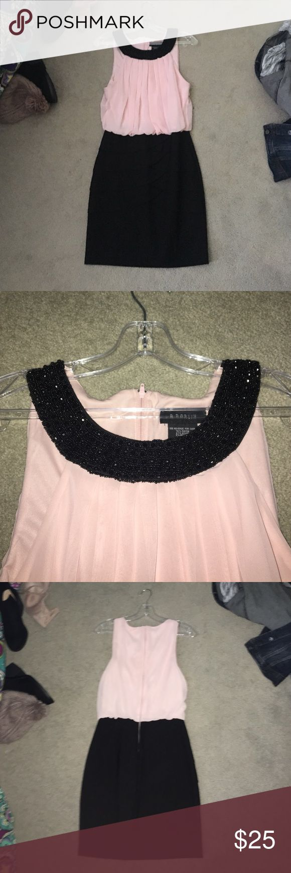 Homecoming dress Pink and black special occasion dress. Size 7/8 Dresses Prom