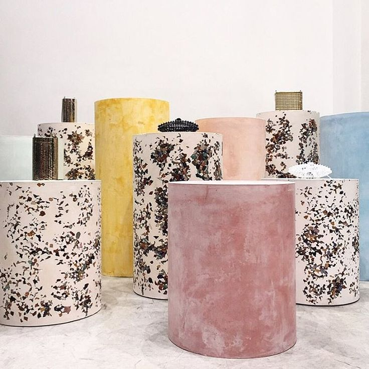 "DOVER STREET MARKET, New York, ""New bag brand ANNDRA NEEN on furniture by artist Samuel Amoia using precious stones from Brazil"", pinned by Ton van der Veer"