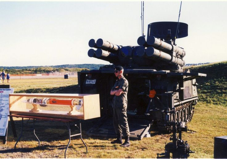 An ADATS (Air Defense Anti-Tank System), a dual-purpose short range surface-to-air and anti-tank missile system based on the M113A2 vehicle, on display a few years back at CFB Shearwater, Nova Scotia. ADATS entered service with the Canadian Army in Germany during 1989 and after their return the systems were only operationally deployed in June of 2002 when they were used to defend the airspace above the G8 summit held in Kananaskis, Alberta. #HalifaxAuthor #Halifax #worldoftanks