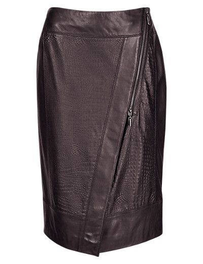 Speziale Leather Pencil Skirt Clothing