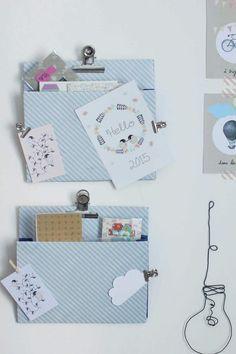 Cadeau fête des mères à faire soi-même : un porte document mural - 20 idées cadeaux de fête des mères à fabriquer soi-même - Elle