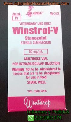 Winstrol- V 30 ml x 50 mg - Precio ( $800 Pesos ) Stanozolol