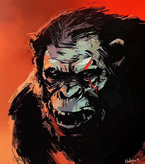 Koba - For some reason I always fall for the villains... especially the ones who attempt to wipe out the humans... shrug.