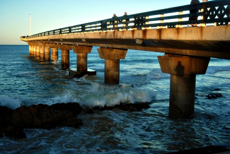 The pier at Port Elizabeth, South Africa.