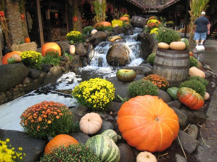 Fall decorations in Gatlinberg TN