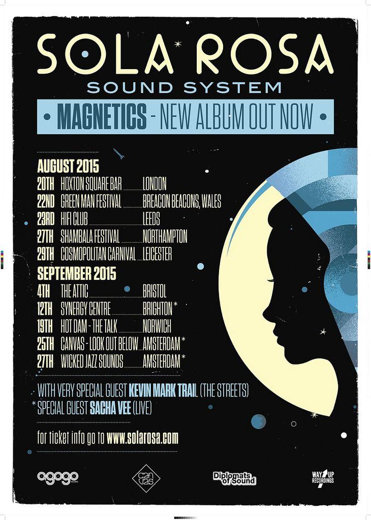 https://flic.kr/p/vPdjZW | SolaRosa Sound System - Magnetics EU Tour 2015