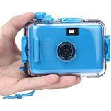 Cheap Waterproof camera POTO Underwater Waterproof Mini 35mm Film Camera Gifts (BLUE) sale