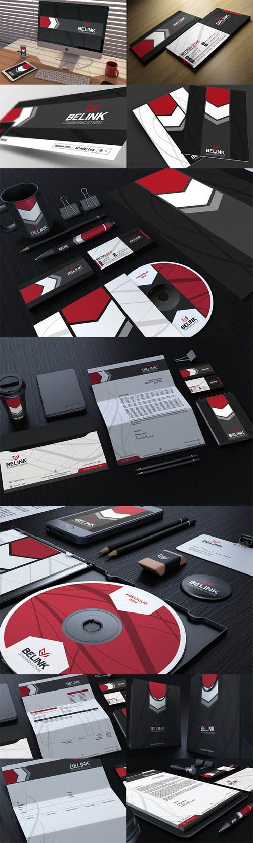 Red And Black Corporate Identity » Free Special GFX Posts Vectors AEP Projects PSD Web Templates