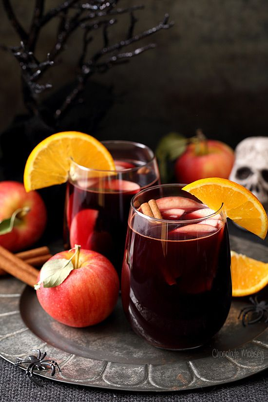 Relax this Halloween with Red Apple Cider Sangria - the perfect Hallowine cocktail to serve an adult party crowd with minimal effort.