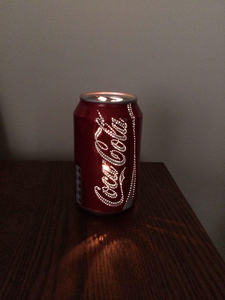 Cool! Setzen Sie Löcher in eine leere Getränkedose und machen Sie ein Licht hinein! Nur WIE würdest du