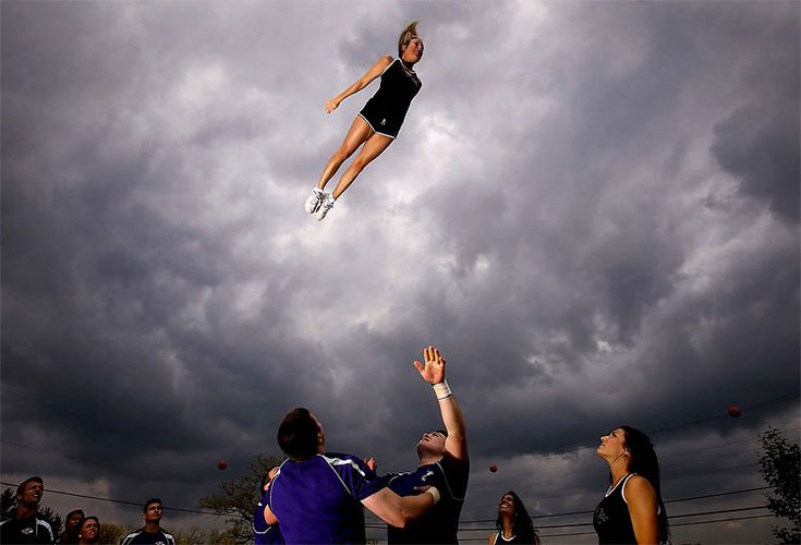 Baltimore Ravens cheerleading squad. Most NFL teams are just dancers or eye candy, but this team really works hard.