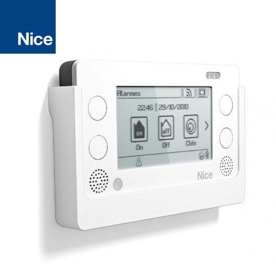 Tastiera wireless Touch Screen Bidirezionale con Centrale d'allarme HSCU2. Gestione 99 automazione Nice con comandi wireless. Gestione della automazione con scenari, con gruppi e con timer settimanali.