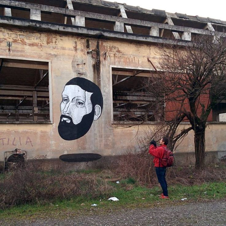 #Streetart: new piece by #AndreaCasciu in Reggio Emilia (Italy) #art