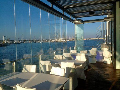 Cortinas de Cristal para un Restaurante junto al mar, Valencia