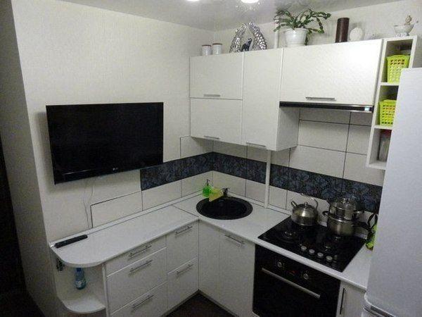 Вариант маленькой кухни кухня, дизайн, ремонт, отделка, интерьер, длиннопост