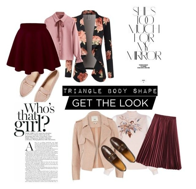 """""""18.01.05"""" by chicwomens on Polyvore featuring Doublju, Boohoo, River Island, Gucci, Rika, GetTheLook and trianglebody"""