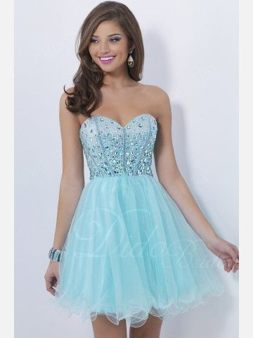 Beaded Tulle Sweetheart Short Homecoming Dress