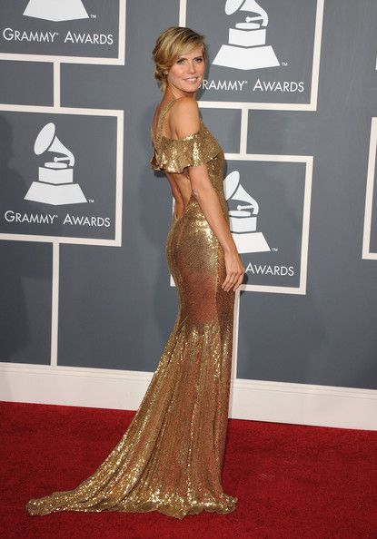Like she's dripping in gold...