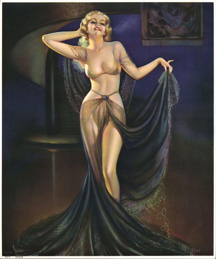 FINEST EXOTIC HAREM GIRL ART DECO PIN-UP CALENDAR PRINT GRACE IRENE PATTEN 1935 #ArtDeco