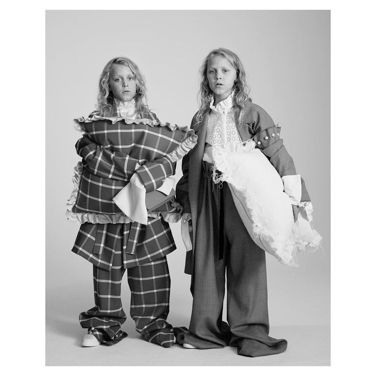 """""""Tailoring doesn't need to be all about the boardroom. For us, it's something that works for breakfast time, quiet time, home time and beyond"""" Casper & Louis, 10  Photographed by Toby Coulson. #motherofpearl #pearlyqueens #playdressup #oversized"""