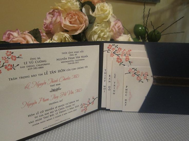 Vietnamese Wedding Invitation. Not Sure If Weu0027d Want To Stick With The  Cherry