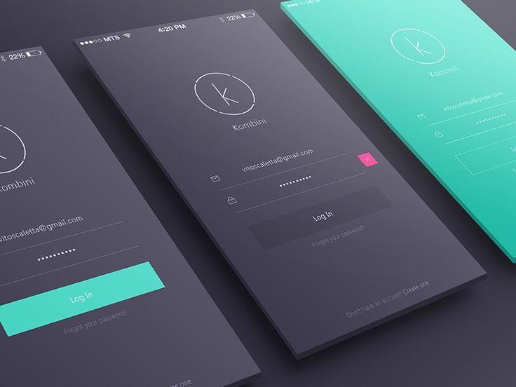 Login/Sign up inspiration for mobile apps — Muzli -Design Inspiration — Medium