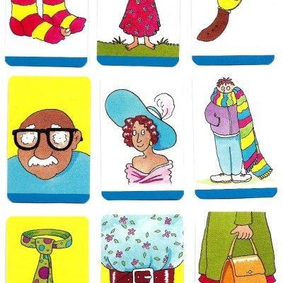 'Mini Flashcards Language Games - Clothes'