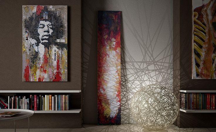 #starlike #art #grout #music #mosaic #hendrix