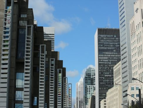 high modern buildings in cit central