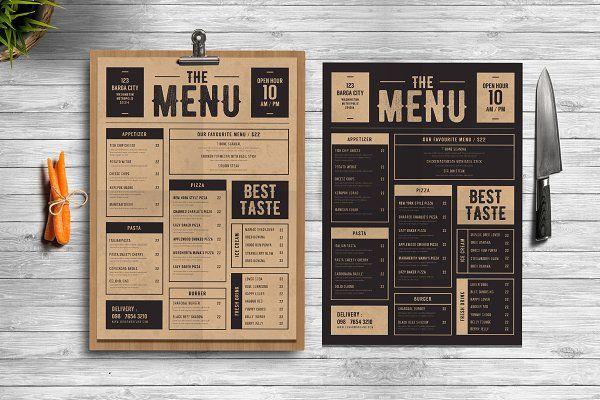 Classic Food Menu - Flyers - 1