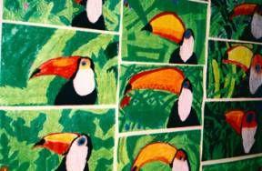 Toucans with oil pastels - gr 3/4