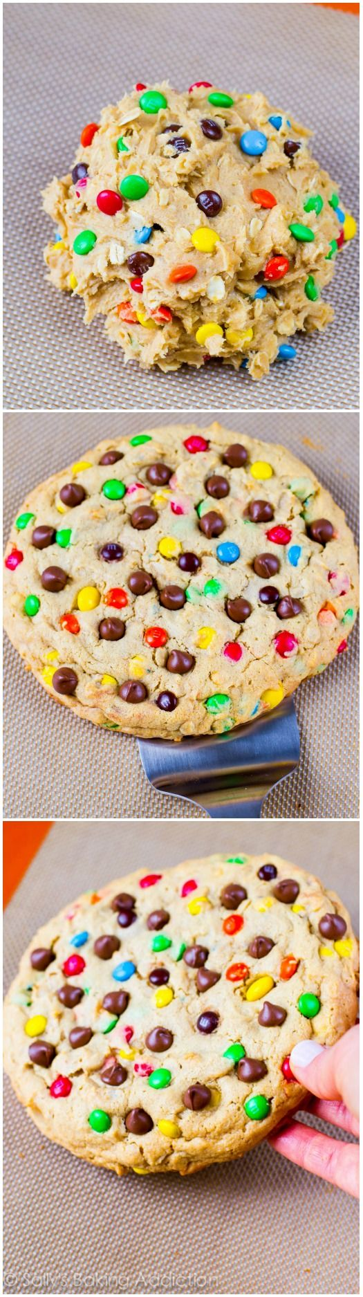 One giant peanut butter M&M cookie to cure even the largest peanut butter cookie craving!