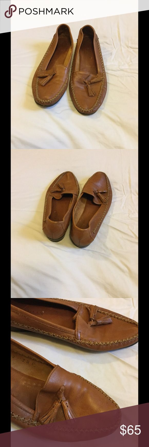 Cole Haan Loafers. Brown cole Haan Loafers. Good condition. Made very narrow. Worn. Super cute. Great for work. Offers welcome. Cole Haan Shoes Flats & Loafers