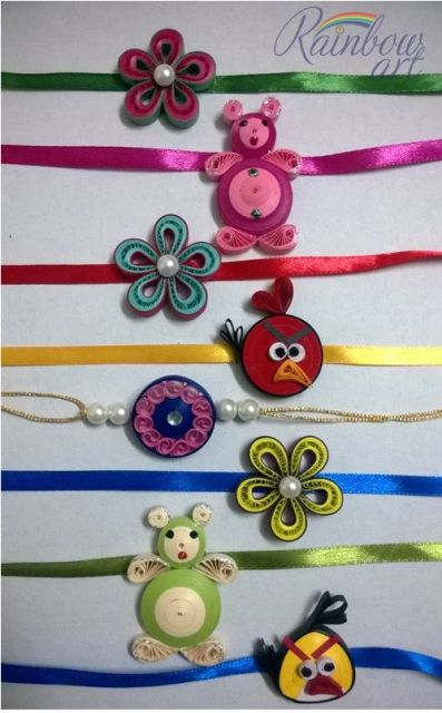 Paper Quilled Rakhi Whatsapp at +919820465566
