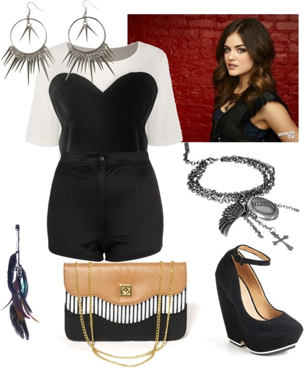 U0026quot;Aria Montgomery Styleu0026quot; by simmyj liked on Polyvore | As Seen On TV | Pinterest | Stockings ...