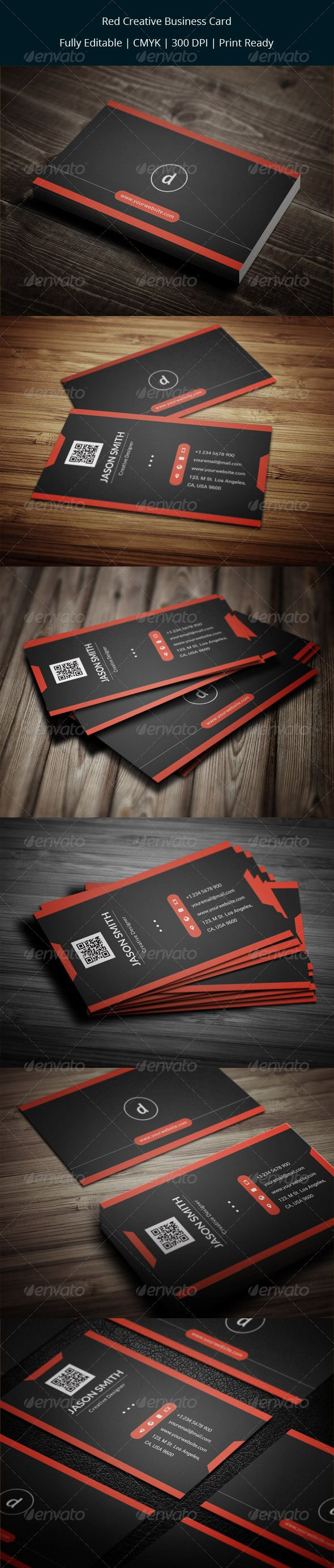 70 best images on pinterest cars fonts and business red creative business card magicingreecefo Gallery