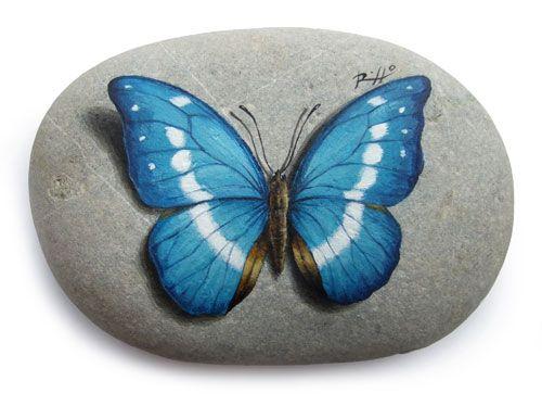 Dipingere su pietra una farfalla | Speed video tutorial - Roberto Rizzo Website