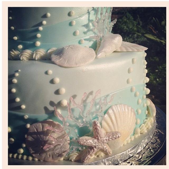 Ocean Wedding Cake Ocean Party Glamor Pinterest